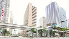 Office buildings at Downtown Miami Stock Footage