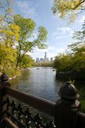 Central Park Lake, New York City, United States of America Stock Photos