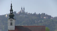 Linz in Austria, zoom out - stock footage