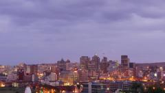 Timelapse of the City of Durban from Day into Night | Durban Stock Footage Stock Footage