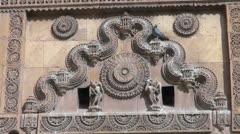 India Rajasthan Jaisalmer decoration on gate  Stock Footage
