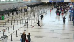 Airport terminal day Stock Footage