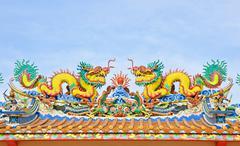 Twin dragon Stock Photos