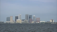 Tampa City Skyline HD Video Stock Footage
