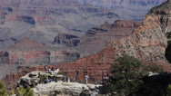 Stock Video Footage of Aerial Panoramic View Scenic Cliff Grand Canyon Beautiful Summer Western Horizon