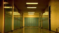 Lockers in a High School HD Video Stock Footage