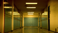 Stock Video Footage of Lockers in a High School HD Video