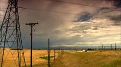 Rural Road in Denver Colorado HD Video Stock Footage