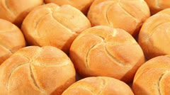 Fresh buns Stock Footage