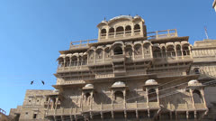 India Rajasthan Jaisalmer palace with various domes  Stock Footage