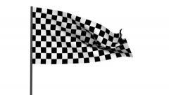 Racing flag Stock Footage