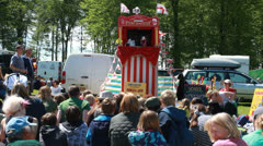Punch & Judy show at Highclere Country fair (3) Stock Footage
