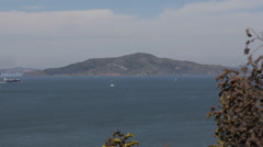 Industrial Ship Transportation Sailboat Boat Navigate Passing San Francisco Bay Stock Footage