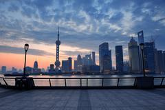 Shanghai aamulla Kuvituskuvat