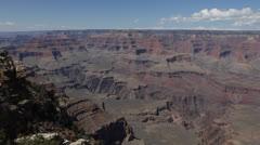 Landscape Grand Canyon Arizona Aerials Mather Point Yavapai Sunny Day Blue Sky Stock Footage