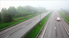 Foggy motorway - stock footage