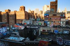 New york city manhattan artwork painting on the wall Stock Photos