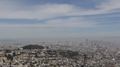 Busy City San Francisco Bay Aerial View Skyline Downtown Cityscape California Stock Footage