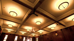 Stock Video Footage of Zoom to CU Ceiling Fan, Buffalo Courtroom HD Video