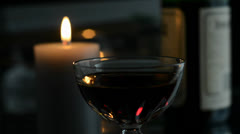 Candle and glass - stock footage