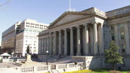 Stock Video Footage of National Treasury, Washington DC