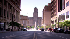 View from Street of Buffalo City Hall HD Video Stock Footage