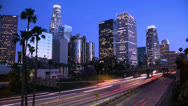 Stock Video Footage of Los Angeles timelapse at night 4K ultra HD
