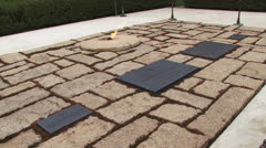 JFK Eternal Flame, Arlington National Cemetery Stock Footage