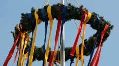 Festive wreath Stock Footage