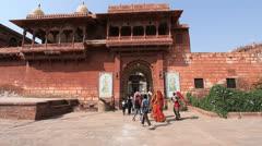India Rajasthan Fort Pokaran Stock Footage
