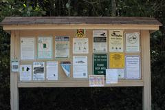 Notice Board at Chittenden Dam Stock Photos