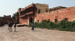 India Rajasthan Fort Pokaran  Stock Footage