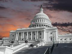United states capitol building stormy weather Stock Illustration