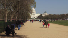 Capitol Building and National Mall, Washington DC Stock Footage