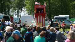 Punch & Judy show at Highclere Country fair (1) Stock Footage