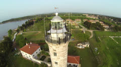 AERIAL: Around the Lighthouse Stock Footage