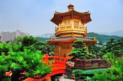 hong kong garden - stock photo