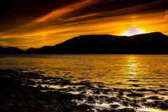 Evening at loch Eil - stock photo