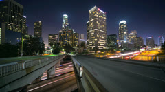 Los Angeles timelapse at night 4K ultra HD Stock Footage