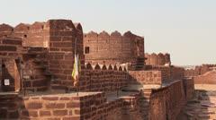 India Fort Pokaran walls Stock Footage