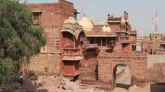 India Fort Pokaran Stock Footage