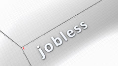 Growing chart graphic animation, rising jobless Stock Footage