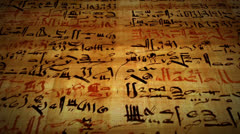 Ancient Script Language Written on Papyrus Scroll Paper Stock Footage