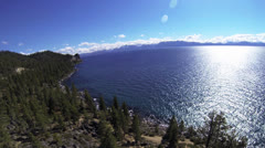 South Lake Tahoe Aerial FPV Stock Footage