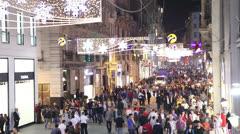 ISTANBUL, TURKEY - MAY 04 : Taksim Istiklal Street Stock Footage