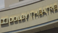 Stock Video Footage of Dolby Theatre by day, Hollywood Boulevard, LA, Los Angeles, California, USA