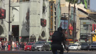Stock Video Footage of Hollywood Boulevard traffic by day, Los Angeles, California, USA