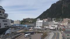 Downtown Juneau Alaska Time Lapse - stock footage