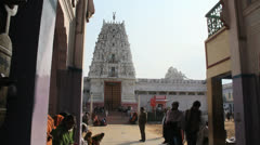 India Rajasthan Pushkar Rangji temple gopuram and courtyard  Stock Footage