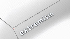 Growing chart graphic animation, rising extremism. - stock footage